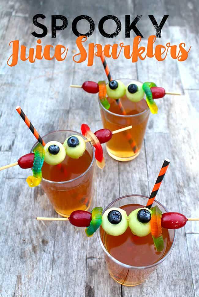 Spooky Halloween Juice Sparklers