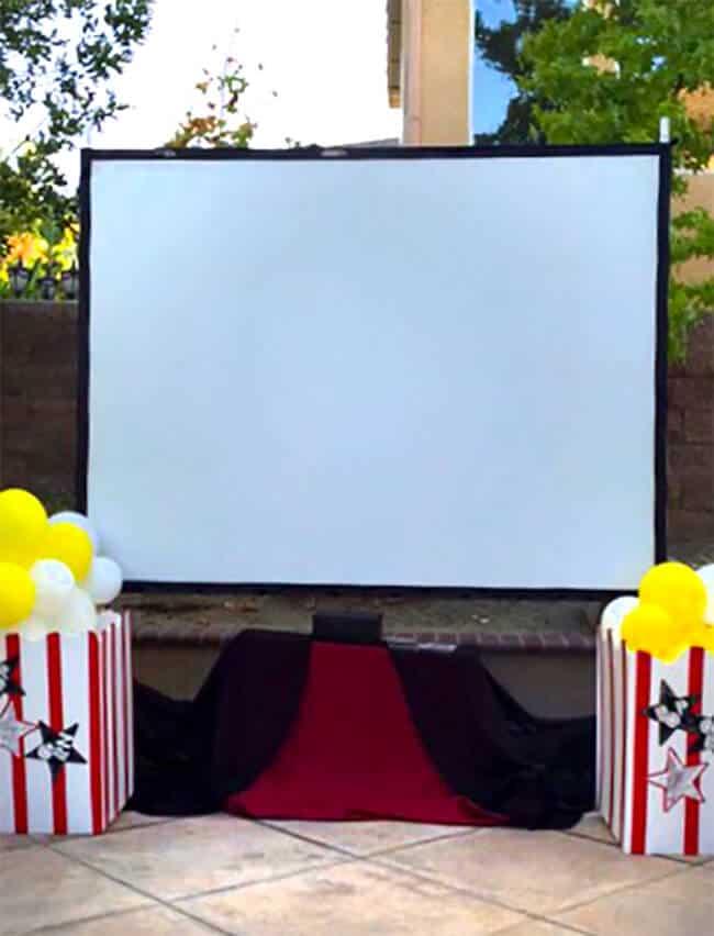 Backyard Movie Screen
