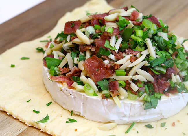 Bacon Almond Baked Brie