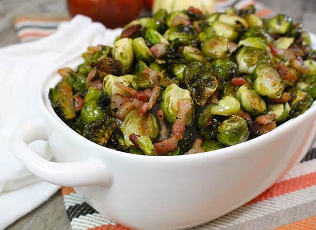 Bacon Roasted Brussels Sprouts Recipe