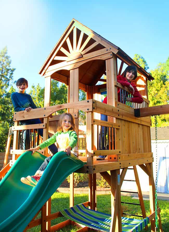 Best Wooden Swing Set For Children