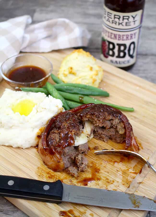 Easy Barbecue Stuffed Meatloaf Recipe