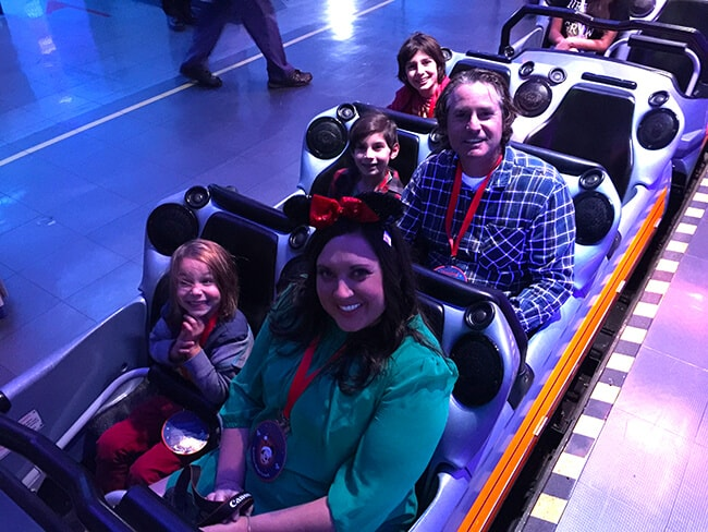 HyperSpace Mountain Ride at Disneyland