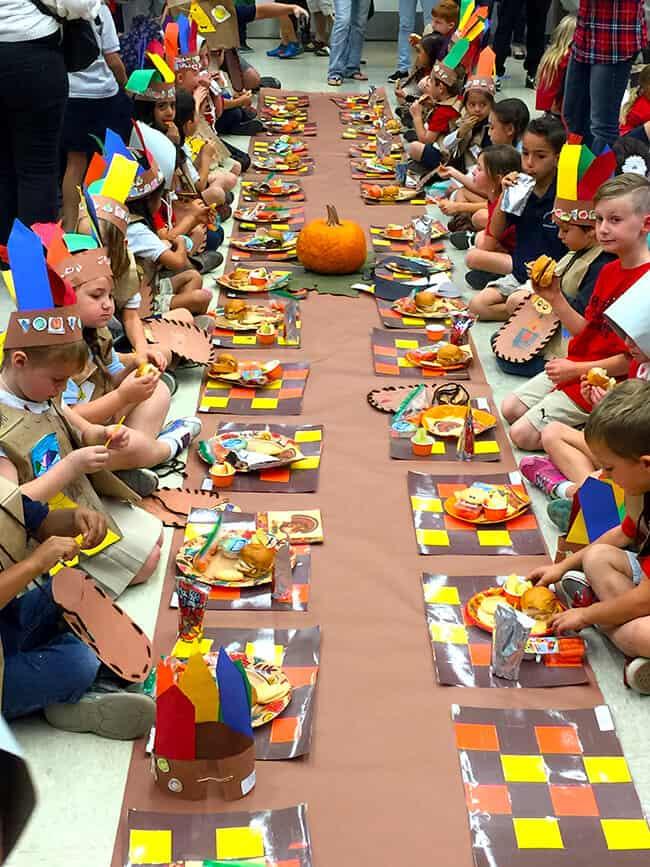 Kindergarten Class Thanksgiving Feast