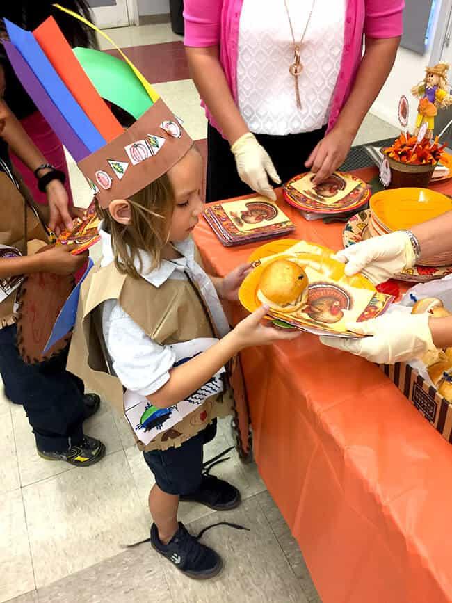 Kindergarten Thanksgiving Feast