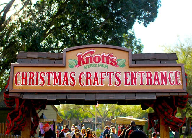 Knott's Christmas Crafts Entrance