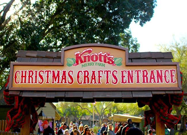 Knott's Christmas Crafts Entrance