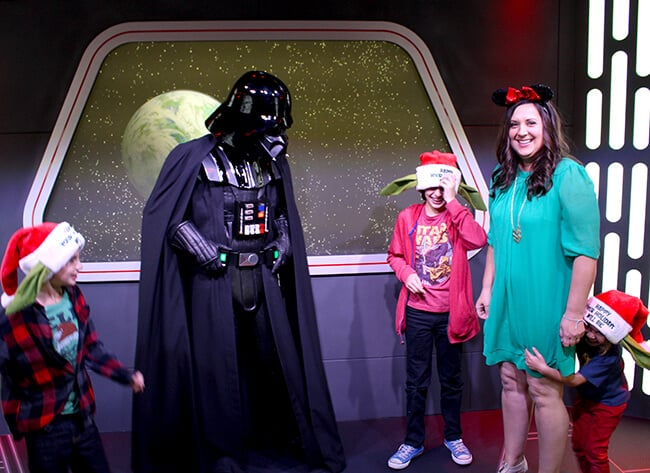 Meet Darth Vadar at Disneyland