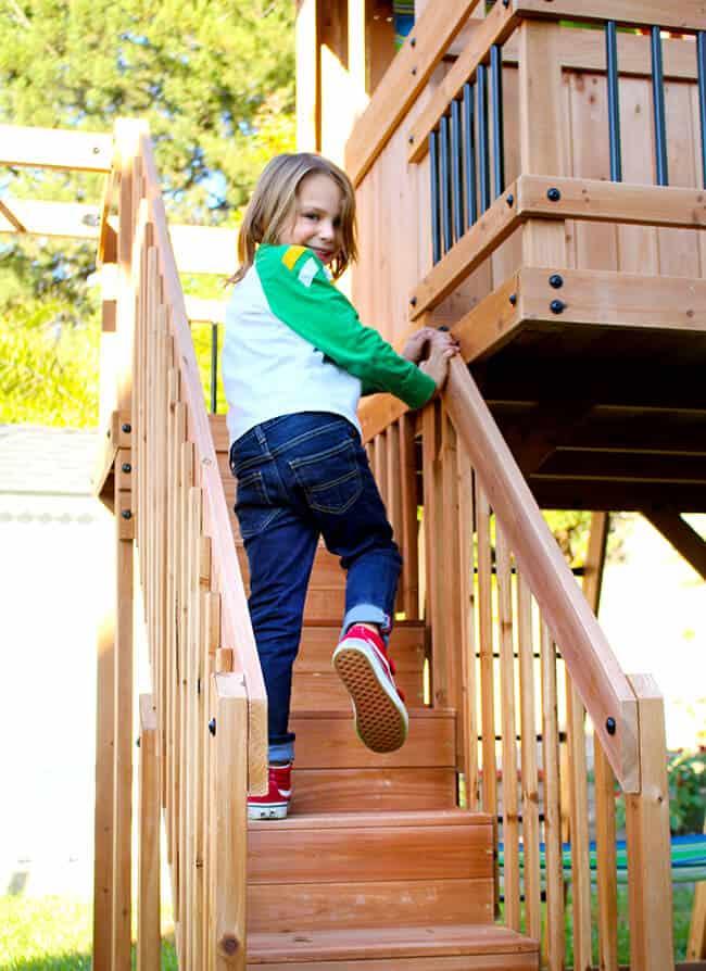 Oceanview Swing Set Stairs