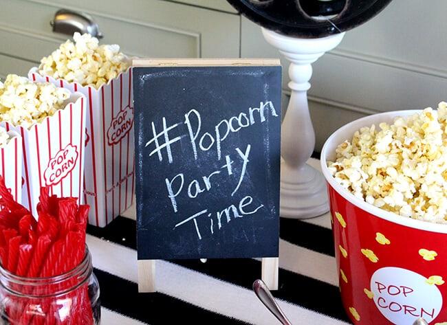 #PopcornPartyTime