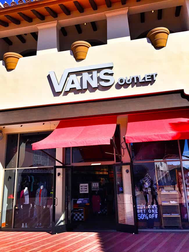 Shopping at the San Clemente Outlets Vans Store