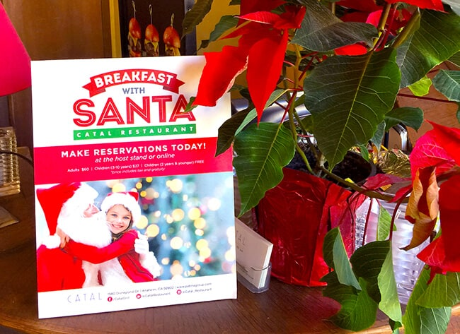 Breakfast with Santa at Catal Restaurant