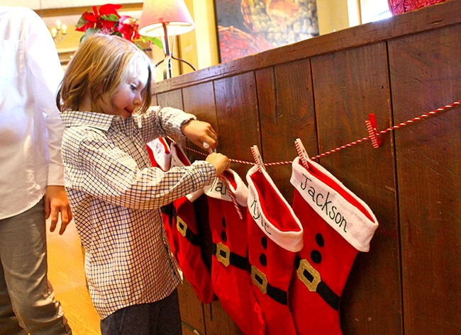 Catal Breakfast with Santa Stockings