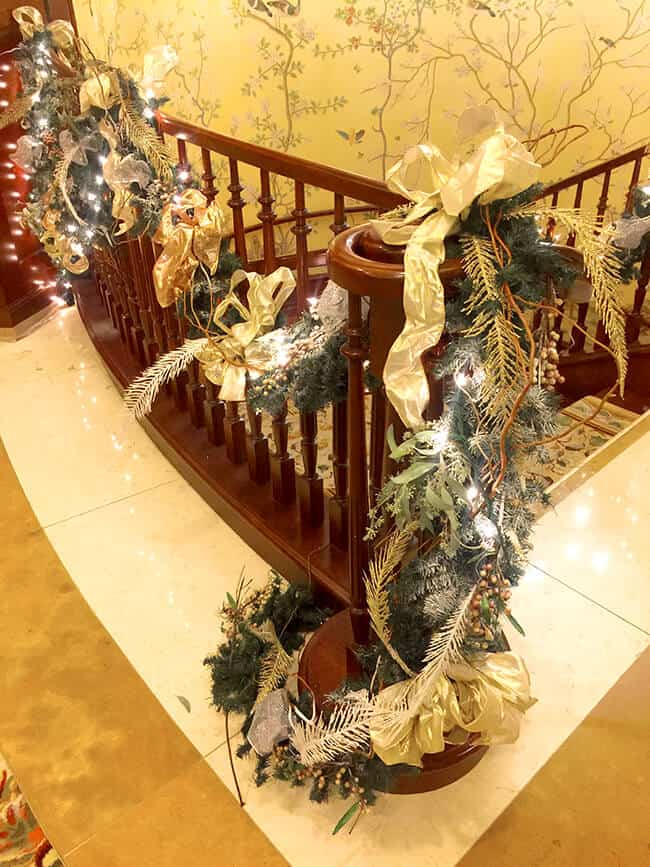 Christmas Staircase at the Four Seasons