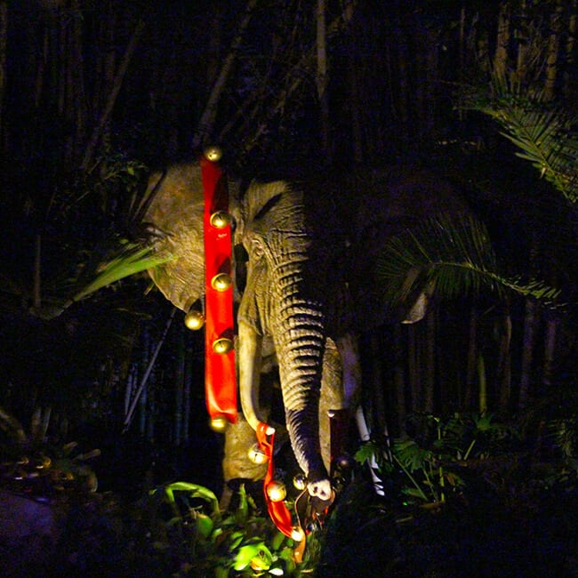 Disneyland Christmas Jingle Cruise Elephant