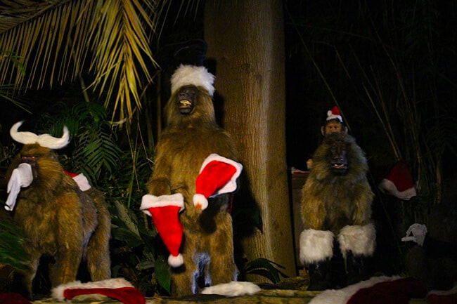 Disneyland Christmas Jingle Cruise MOnkeys