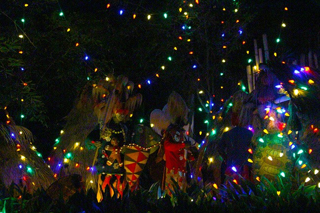 Disneyland Christmas Jingle Cruise at Night