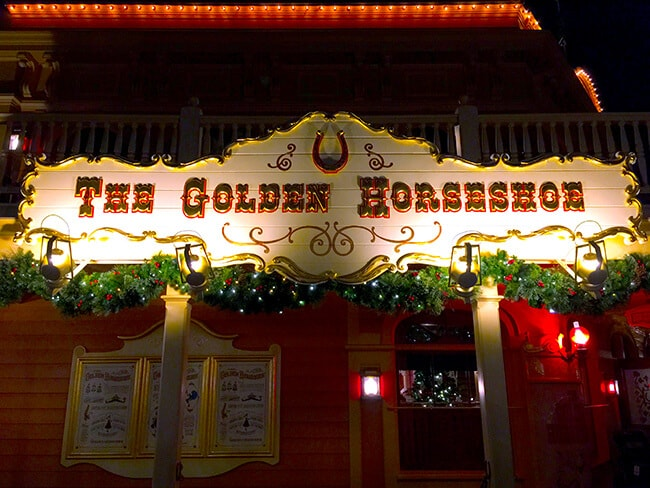 Disneyland Golden Horseshoe at Christmas Time