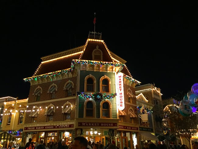 Disneyland Main Street Market at Christmas Time