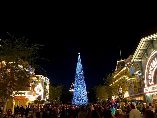 Disneyland Main Street at Christmas Time