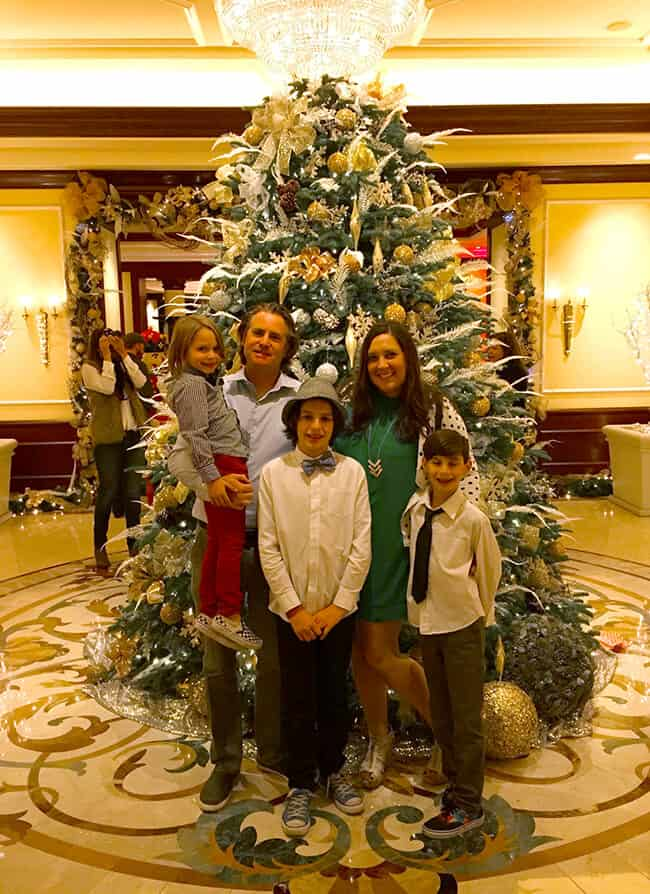 Family Photo at the Four Seasons