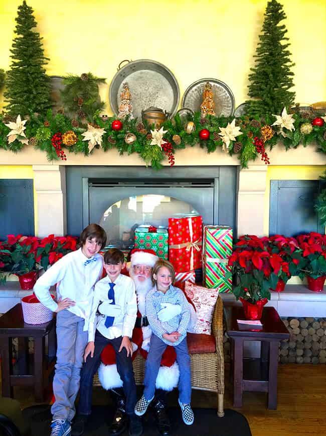 Having Breakfast with Santa in Down Town Disney