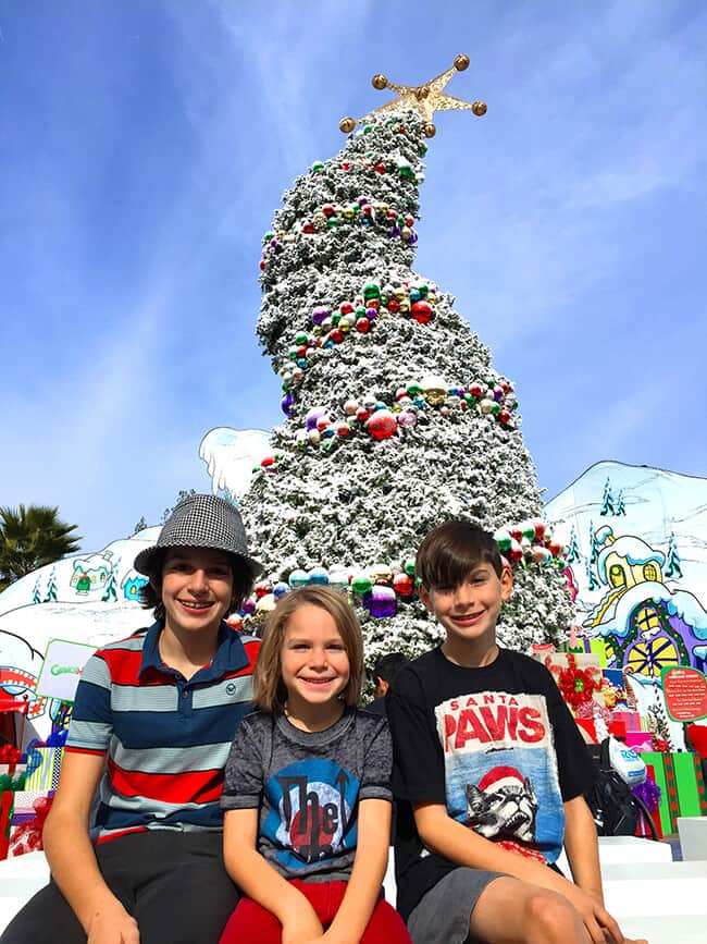 In front of the Grinchmas Tree
