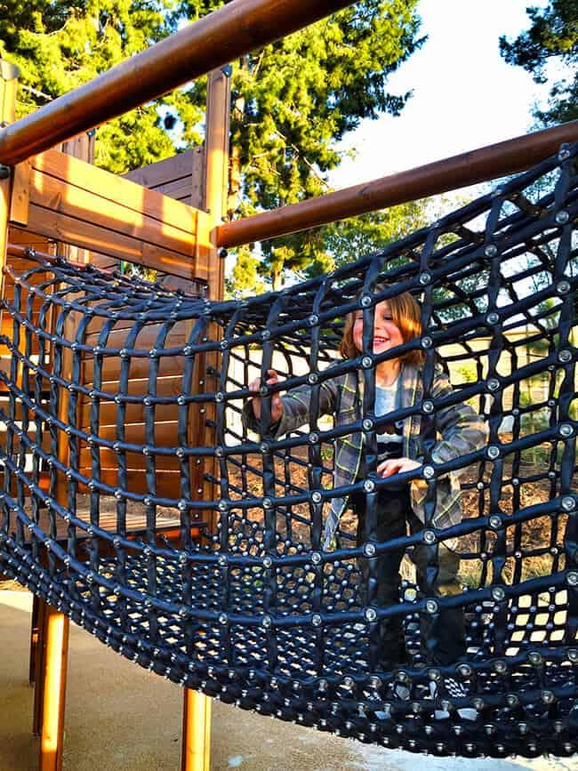 Irvine Adventure Playground Rope Bridge