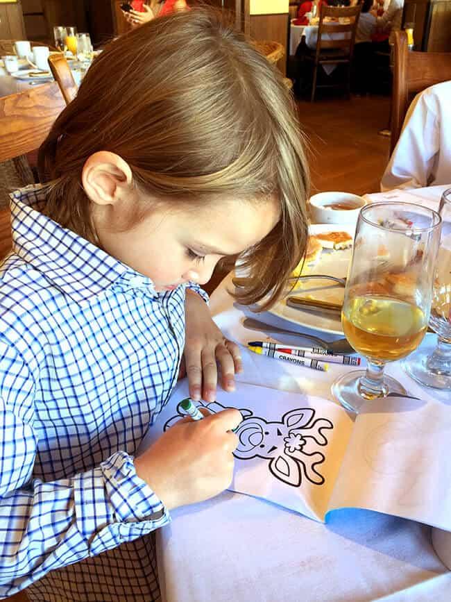 Kids Menu at Catal Restaurant