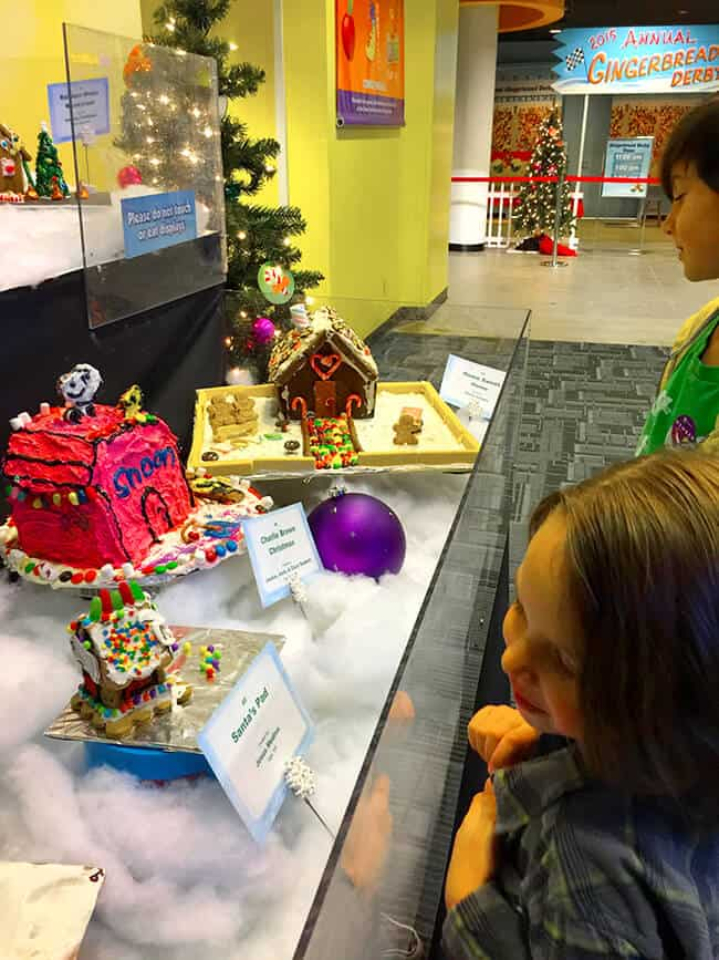 Kids at Science of Gingerbread Display