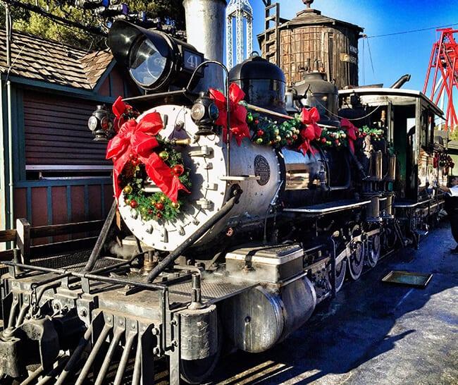 Knott's Berry Farm Train at Christmas