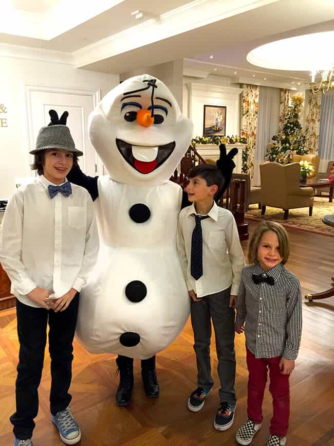 Meeting Olaf at the Four Seasons