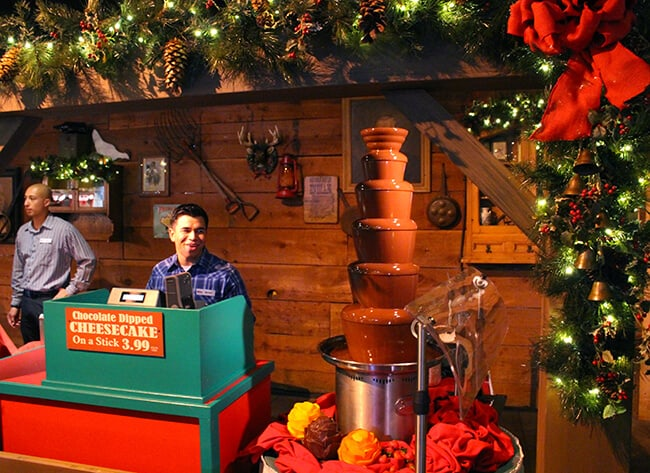 Santa'a Christmas Cabin Chocolate Fountain at Merry Farm