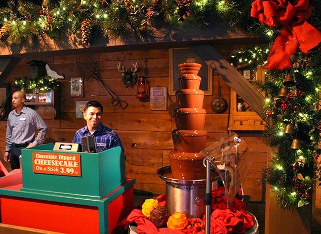 Santa'a Christmas Cabin Chocolate Fountain at Merry Farm