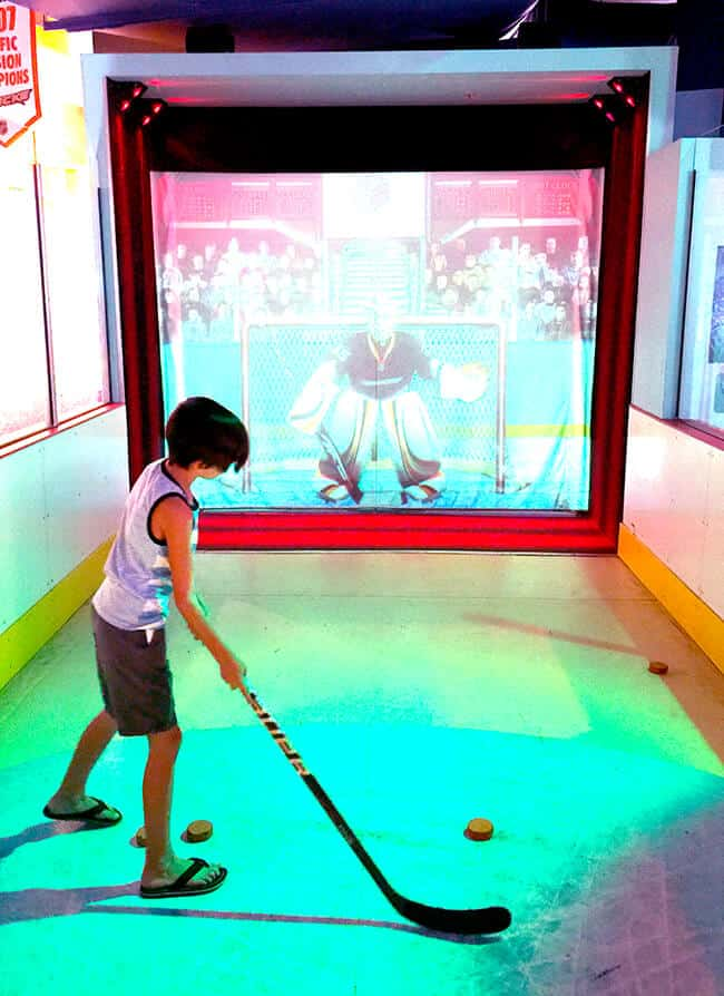 Science of Hockey Shooting Exhibit