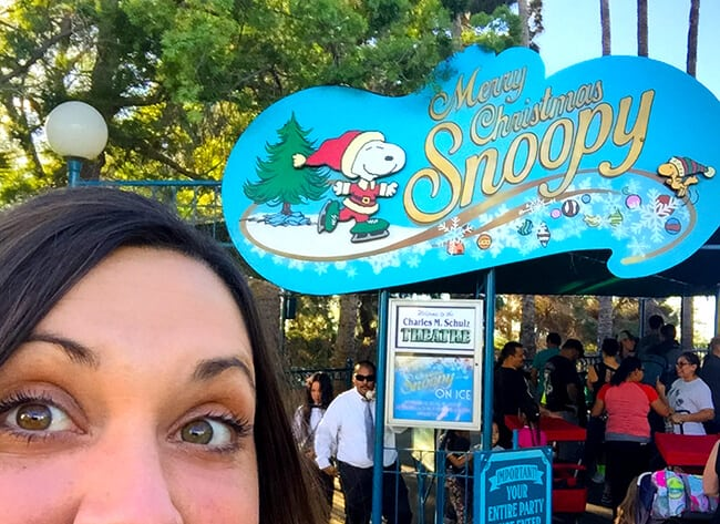 Snoopy On Ice Christmas Show at Merry Farm