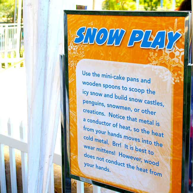 Snow Play at Discovery Cube