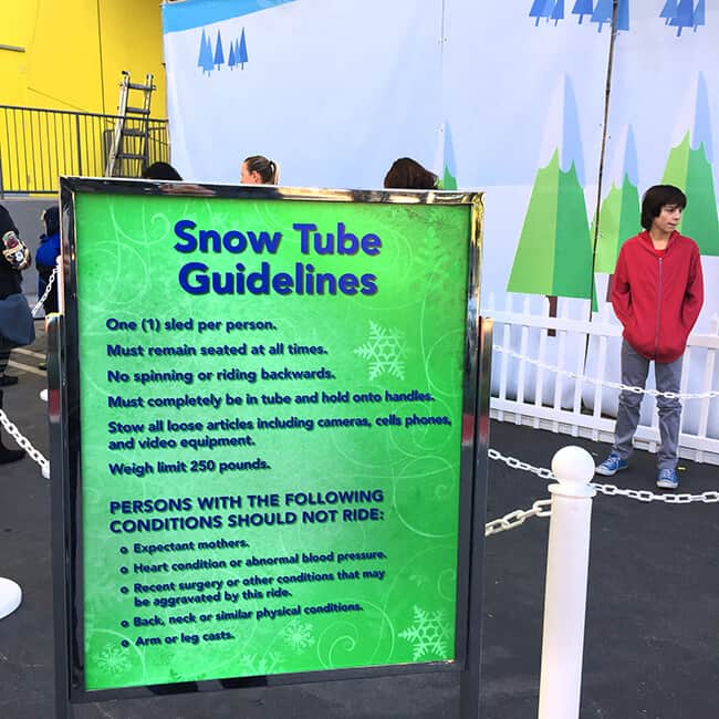 Snow Tub Guidelines at Discovery Cube
