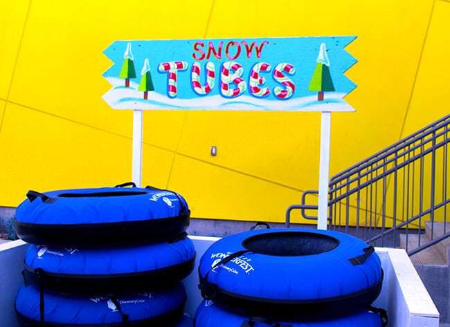 Snow Tubes at Discovery Science Center