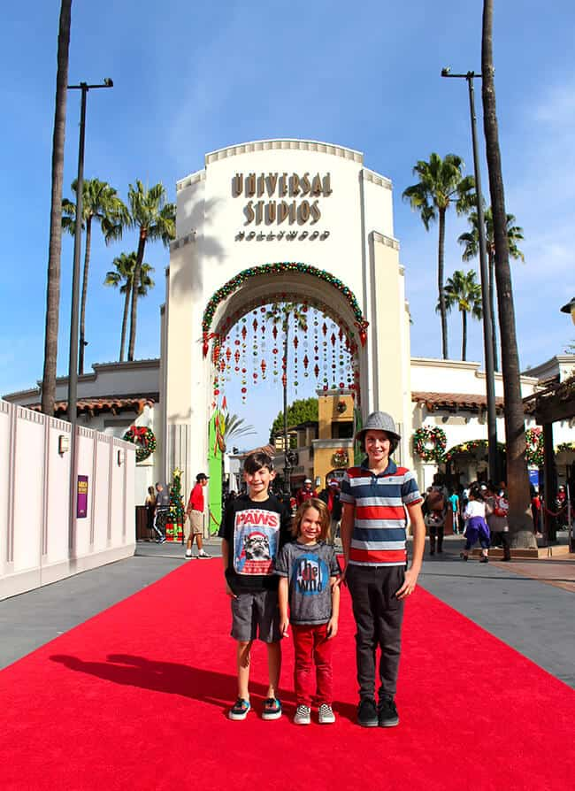 Walking the Red Carpet at Universal Studios