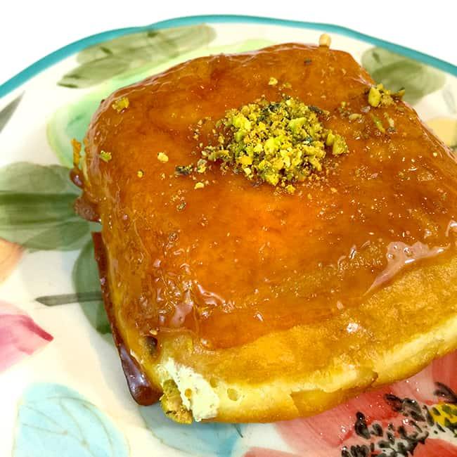 Pistachio Creme Brulee Donut