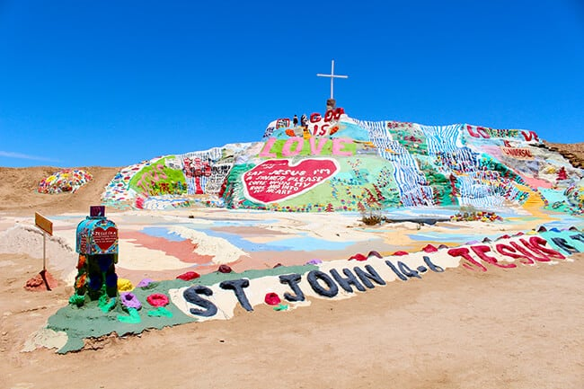 Salvation Mountain in Palm Springs