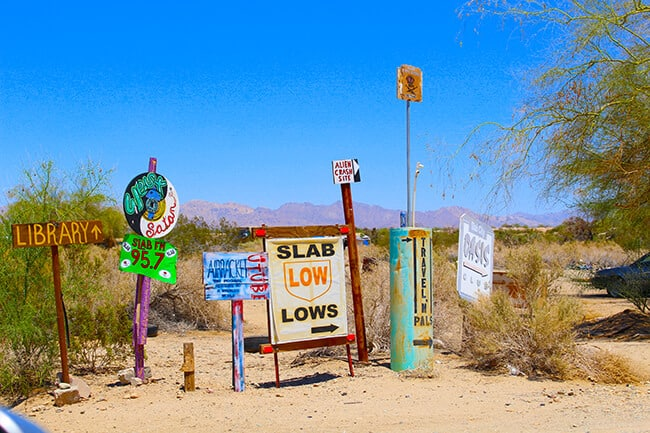Slab City Entrance