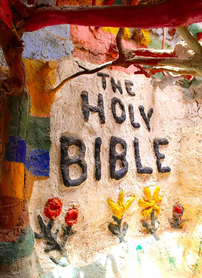 The Holy Bible at Salvation Mountain