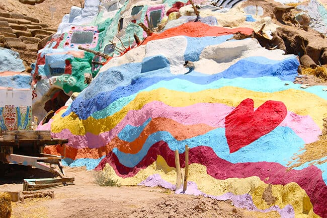 Visiting Salvation Mountain