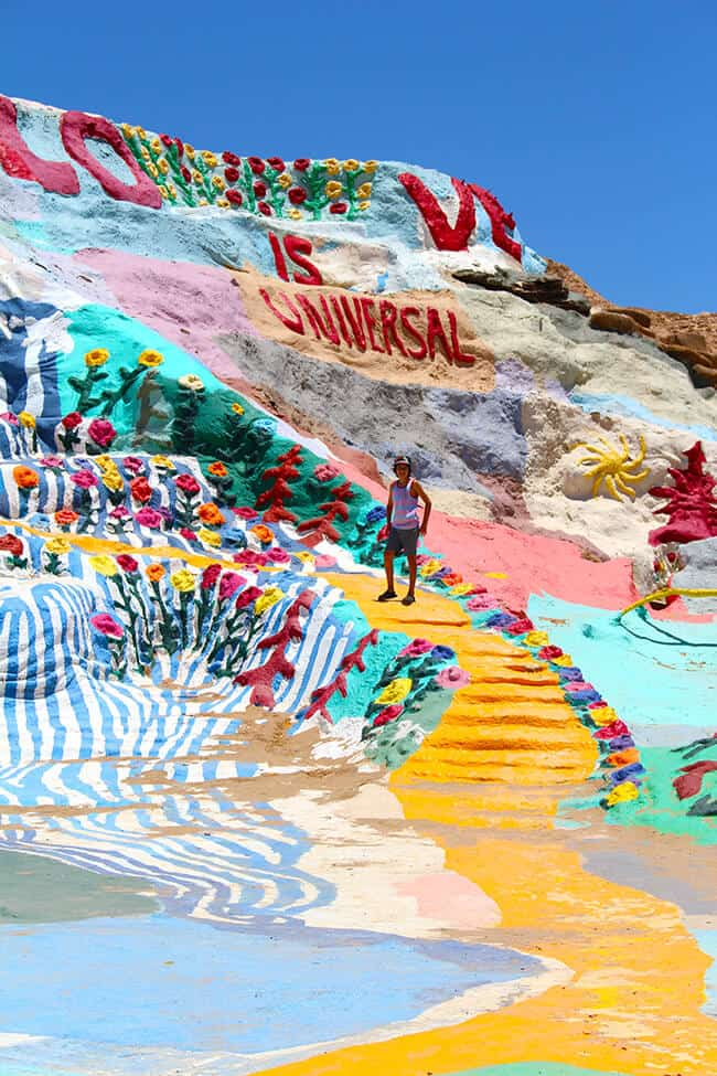 Yellow Brick Road at Salvation Mountain
