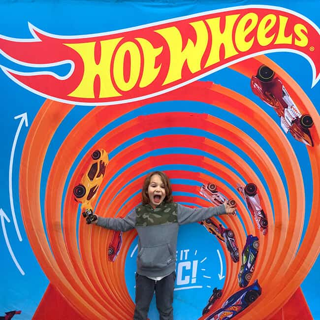 Hot Wheels Fun at the Pit Party