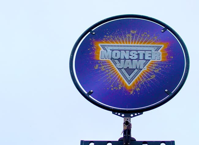 Monster Jam Entrance Sign