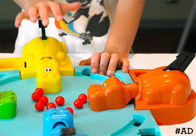 Playing-Hungry-Hippos #ad