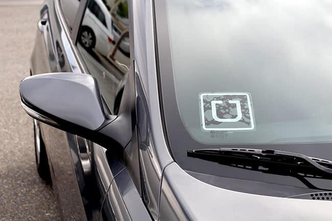 Uber Sticker on a Car
